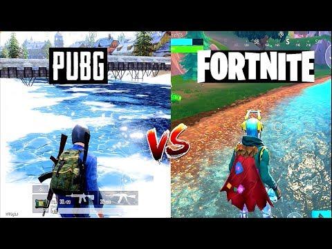 PUBG Mobile VS Fortnite Mobile Ultimate Comparison - Which Mobile Game Is Better?