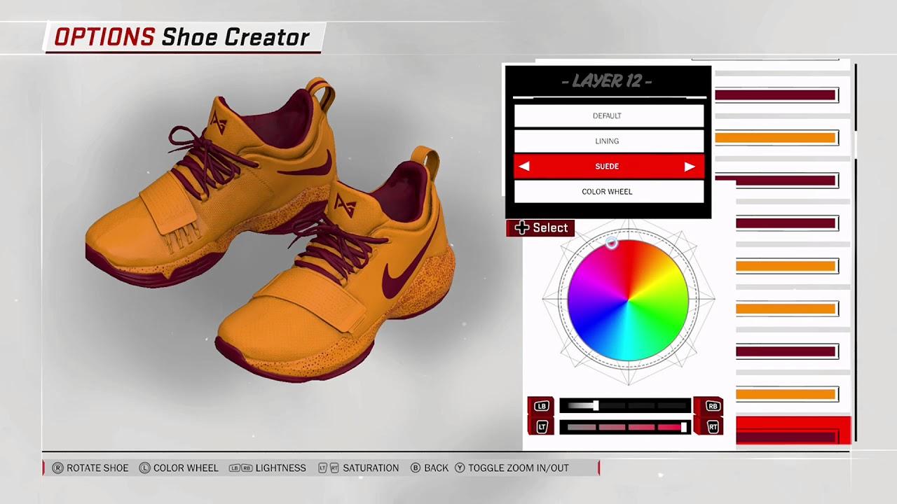 NBA 2K18 Shoe Creator - Nike PG 1 Custom