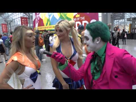 Joker Interviews Sailor Moon and Sailor Venus! New York Comic Con Cosplay 2014