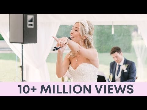 Bride and Groom sing EPIC Thank You Song to Wedding Guests - Best Wedding speech