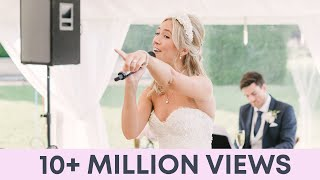 Bride and Groom SING Epic Thank You Song to Wedding Guests - Wedding speech