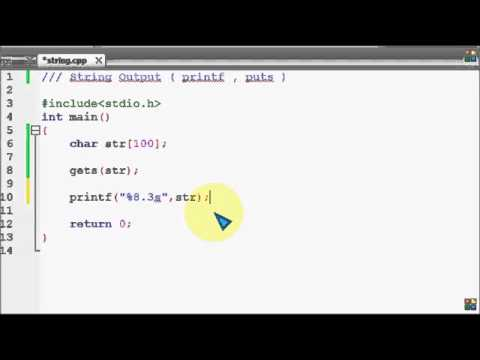 Bangla C programming tutorial 56 String Output A closer look of printf, puts   YouTube
