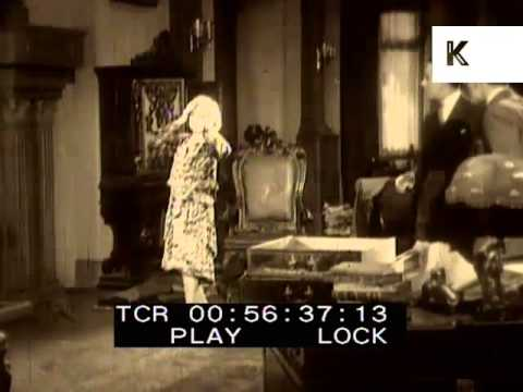 1910s, 1920s, Early Cinema, Woman Faints, Fainting, Reaction Shot