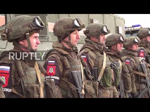 Syria: Russian military police accompany UN-Red Crescent convoy to Damascus
