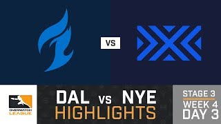 HIGHLIGHTS Dallas Fuel vs. New York Excelsior | Stage 3 | Week 4 | Day 3 | Overwatch League