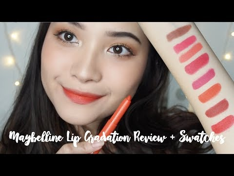 Maybelline Lip Gradation Review & Swatches + Easy Ombré Tutorial