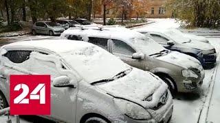 В Карелии выпал первый снег - Россия 24