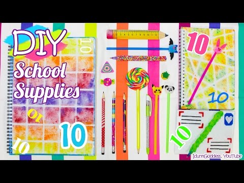 10 DIY School Supplies – Easy Back To School DIY Projects