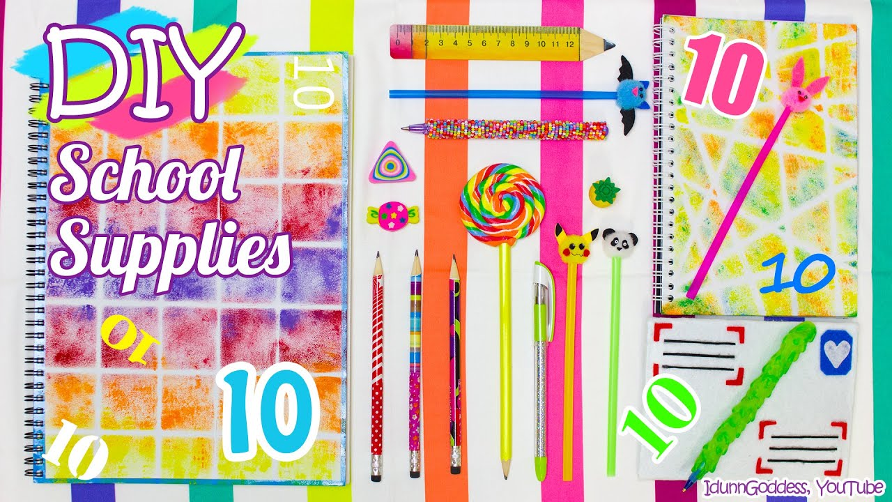 10 diy school supplies easy back to school diy projects youtube solutioingenieria Choice Image