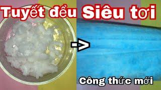 Cách làm Cloud Slime siêu tơi với tuyết rẻ tiền (công thức mik dùng)