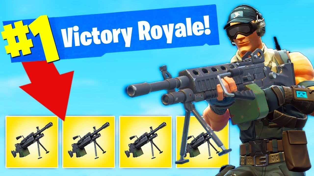 New Lmg Only Challenge In Fortnite Battle Royale Youtube