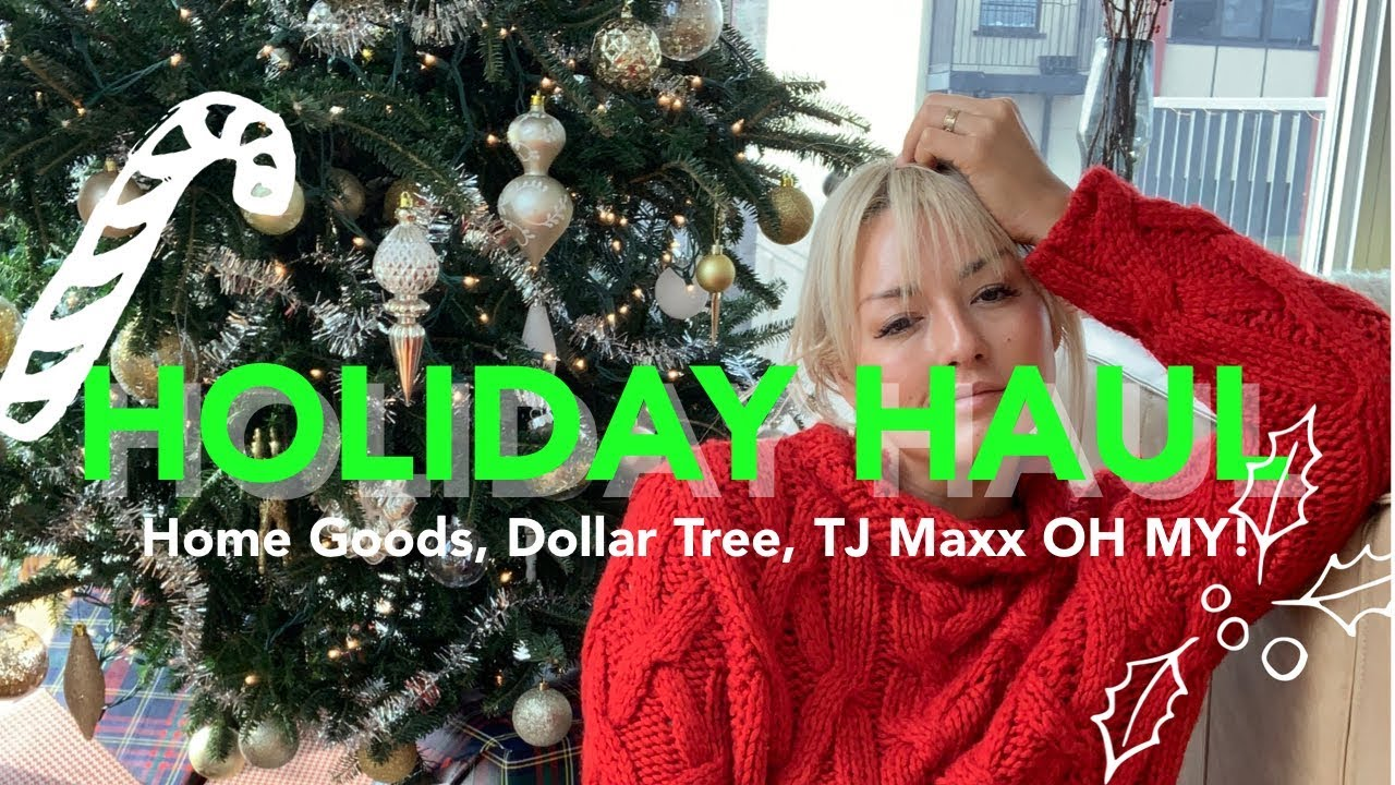 Christmas Decoration Haul What I Bought At Home Goods Tj Maxx