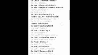 Man United fixtures 2017-2018