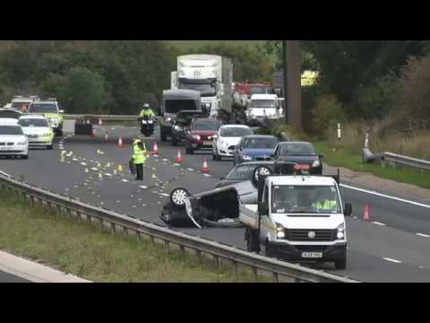 M5 Car Crash   Thursday 20th October 2016   Causes major traffic disruption to the South West
