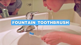 Rinser Toothbrush - Fountain Toothbrush Shoots Water Into Your Mouth