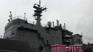 M180320A 海上自衛隊 潜水艦救難艦『ちよだ』 引渡式・自衛艦旗授与式