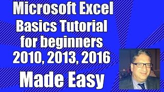Excel Basics - Tutorial for Beginners - Microsoft Excel 2007, 2010, 2013, 2016  for beginners
