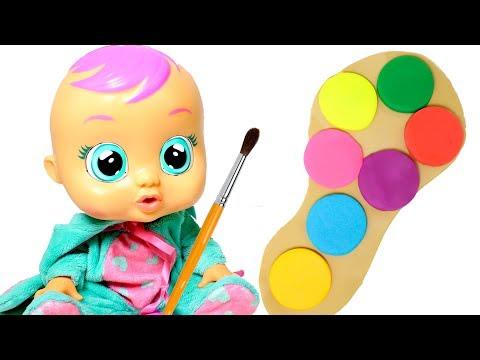 👶 LOS COLORES 👶 Aprendemos los colores con la Bebé Lala y la paleta de colores de Play Doh