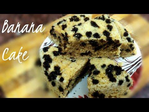 Banana cake II microwave banana and chocolate chip cake II quick and easy banana bread recipe