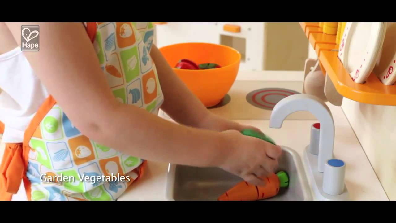 Hape Play Kitchen Elegant Curtains Hape愛傑卡木頭玩具角色扮演廚房系列 Youtube Hape玩厨房