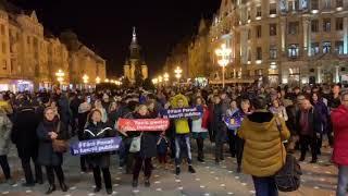Timisorenii s au strans in Piata Victoriei unde protesteaza impotriva statului represiv 2