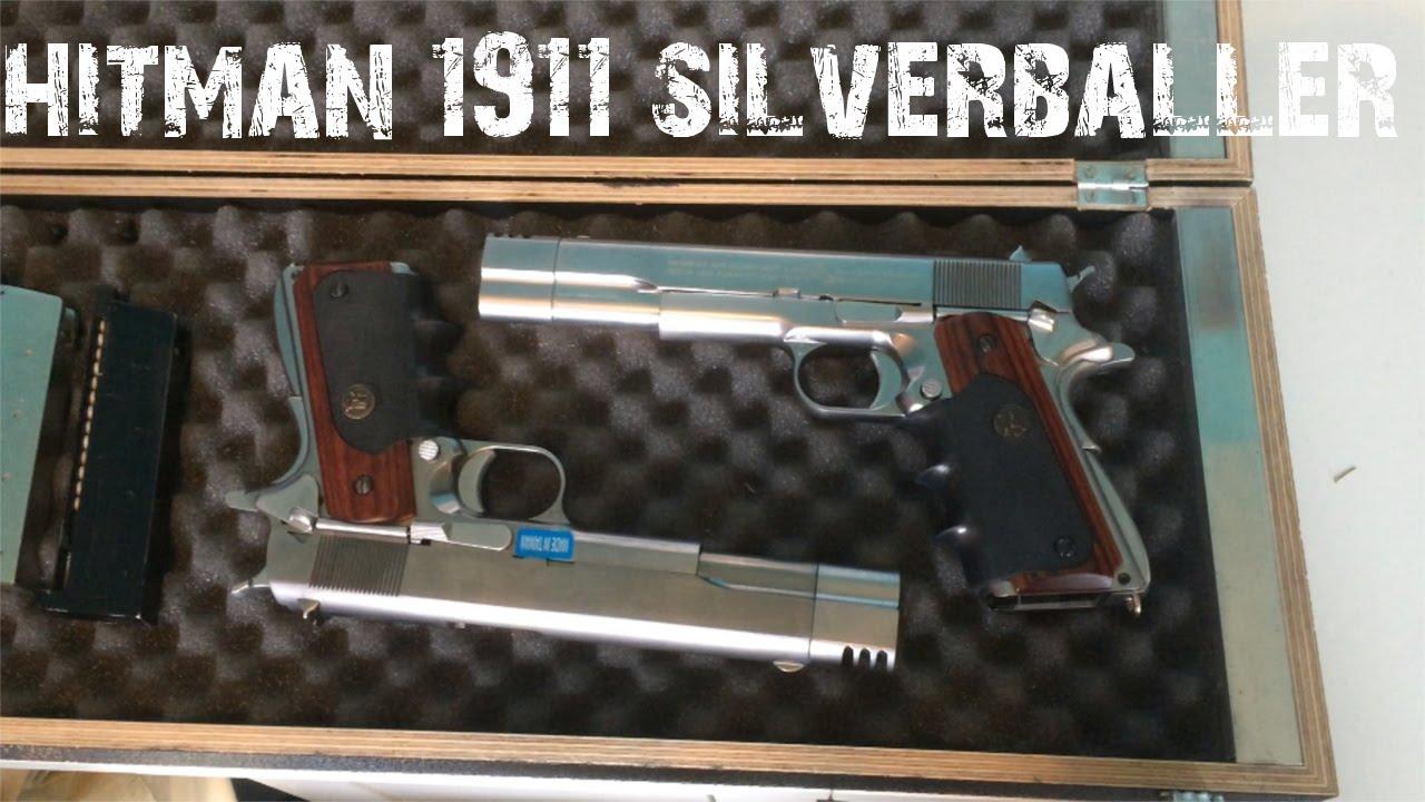 We Colt 1911 Hitman Silverballers Airsoft Review Gameplay Youtube