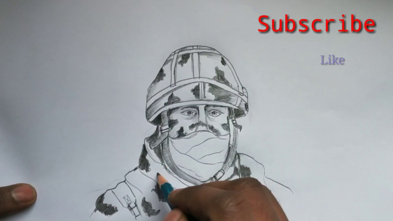 Army soldier drawing easily pencil sketch of soldiers how to draw a soldier