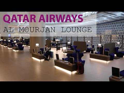 QATAR AIRWAYS BUSINESS CLASS LOUNGE: Al Mourjan at Doha Airport