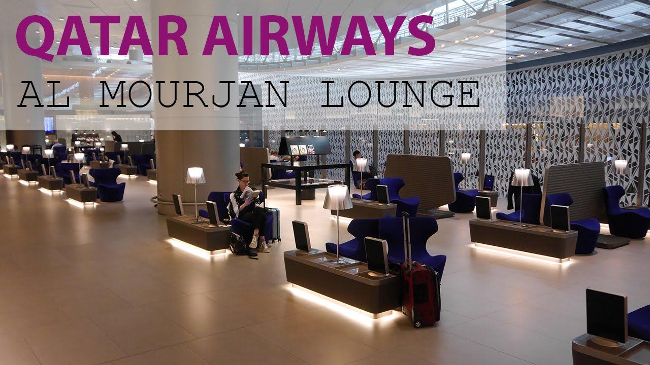 QATAR AIRWAYS BUSINESS CLASS LOUNGE Al Mourjan At Doha Airport