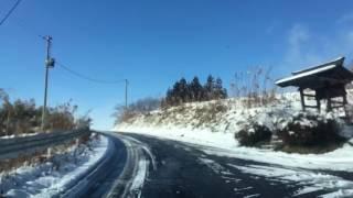 非豪雪地帯の積雪時運転 三春-郡山市-本宮市 '17.1.13(金)