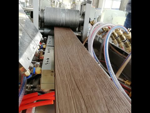 wood plastic wpc profile machine to produce WPC decking by recycled plastic and wood
