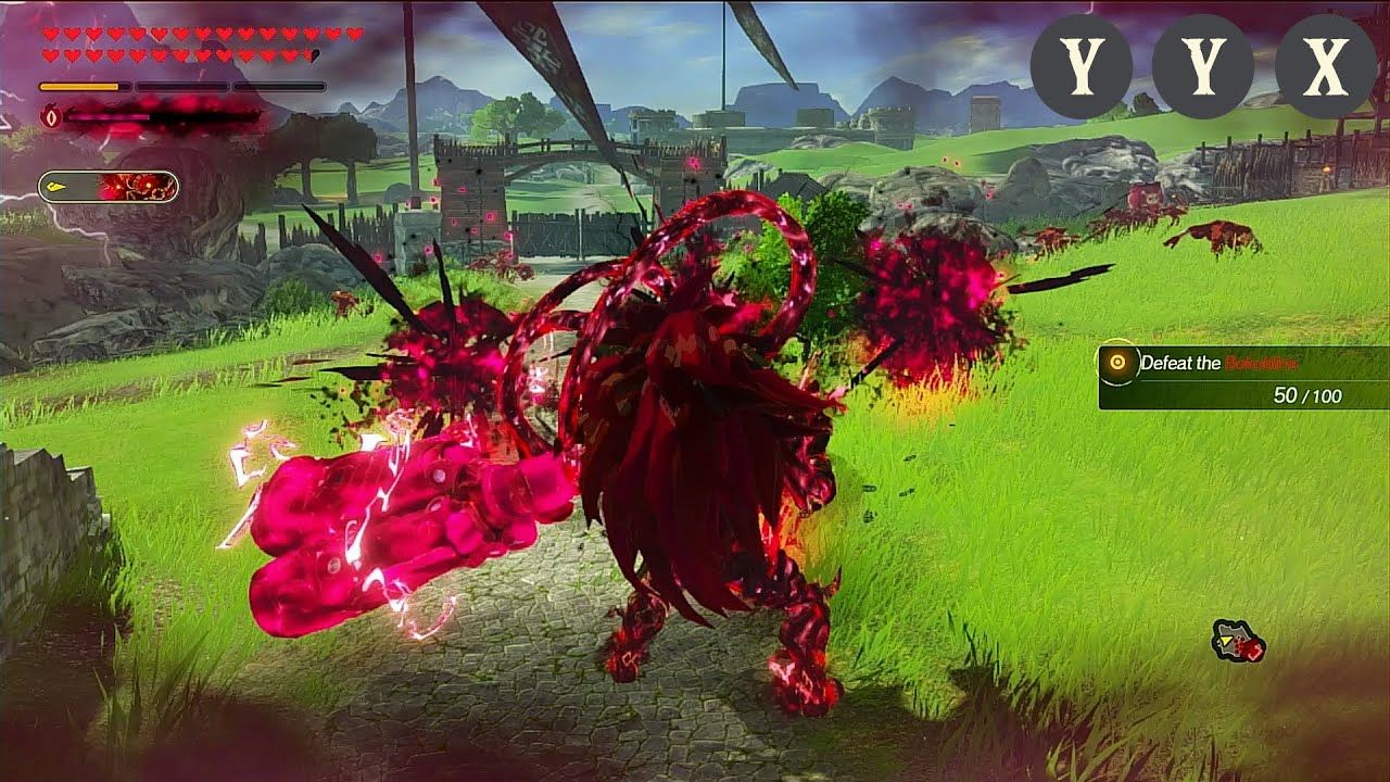 Calamity Ganon Complete Moveset Hyrule Warriors Age Of Calamity Youtube