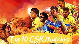 10 most memorable matches featuring Chennai Super Kings