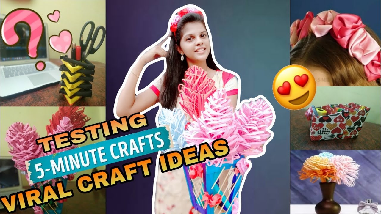 Testing Out Viral Craft Ideas By 5 Minute Crafts Tamil Youtube