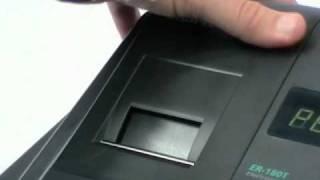 Sam4S ER-180T Cash register how to change the paper roll