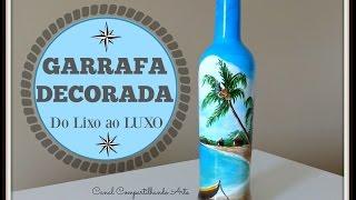 DIY: Garrafa Decorada – Como pintar uma praia na garrafa