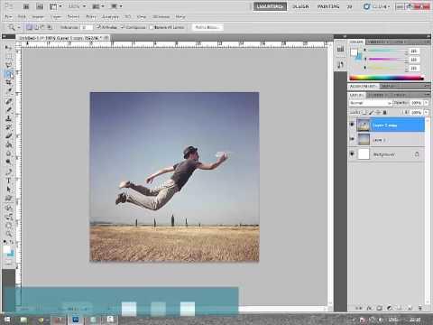 Menggeser Objek Foto/Gambar di Photoshop