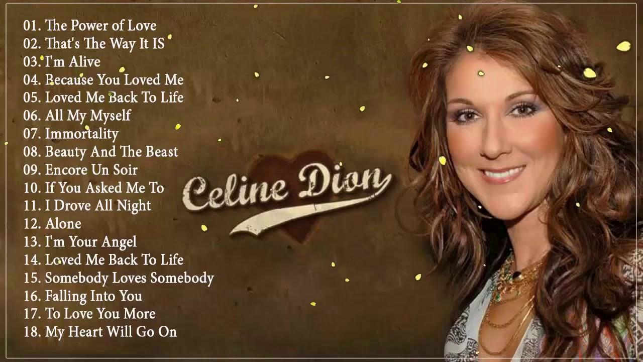 Celine Dion Greatest Hits Playlist - Best Songs Of Celine