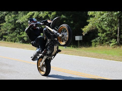 Tips to wheelie the DR-Z400SM for beginners