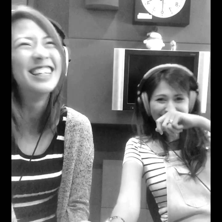 Vanessa Vanderstraaten and I goofing around before we went on air on class 95 this morning.