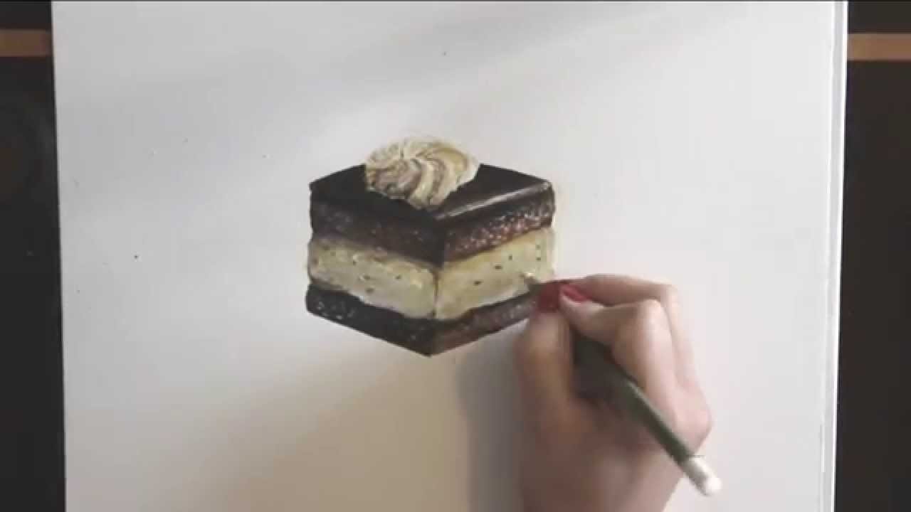 Artist Who Draws Cake : How to draw a chocolate cake - YouTube