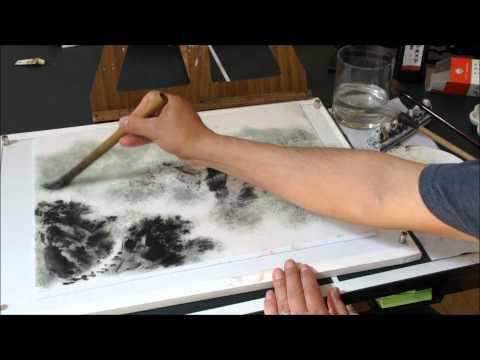 How to Paint Cloud & Mist in Chinese Landscape Painting Using Cotton Xuan Paper HD(2/2)