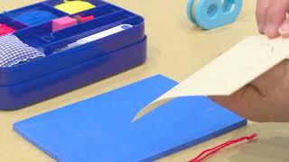 モンテッソーリ教具「縫うセット」の提示法がわかる紹介動画です。
