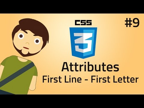 HTML & CSS Pseudo Elements Use Of First Line and First
