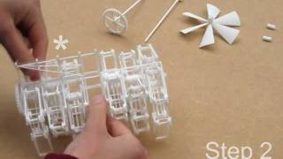 Assembly of the 3D printed Strandbeest and Propeller Propulsion System