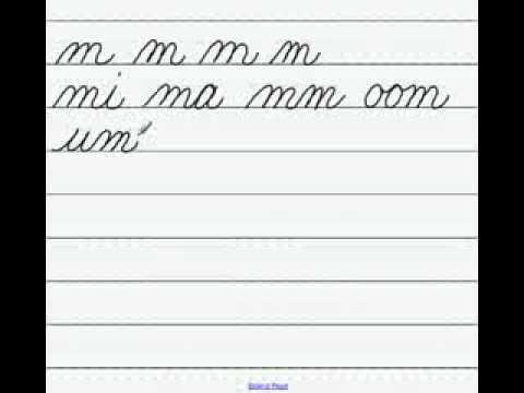 Handwriting Lowercase Cursive m .flv - YouTube