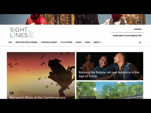 Sightlines: A new online magazine of arts, culture, news & ideas