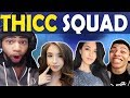 THICC SQUAD | DAEQUAN POKIMANE VALKYRAE & MYTH | HIGH KILL FUNNY GAME - (Fortnite Battle Royale)