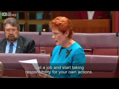 Main points from Pauline Hansons Senate speech   ABC News Australian Broadcasting Corporation