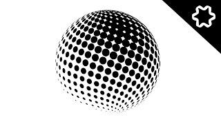 illustrator tutorial / 3D Halftone Logo / Circle Logo Design / How to Design a Logo / Beginner